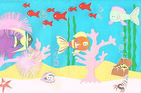 аквариум с рыбками рисунок