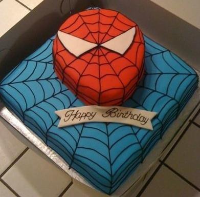 Торт человек паук своими руками