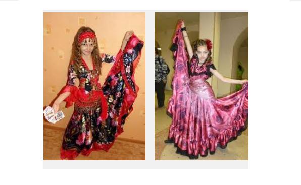Как сшить детский костюм цыганки своими руками 17