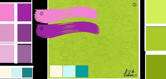 Сочетание салатовый цвет