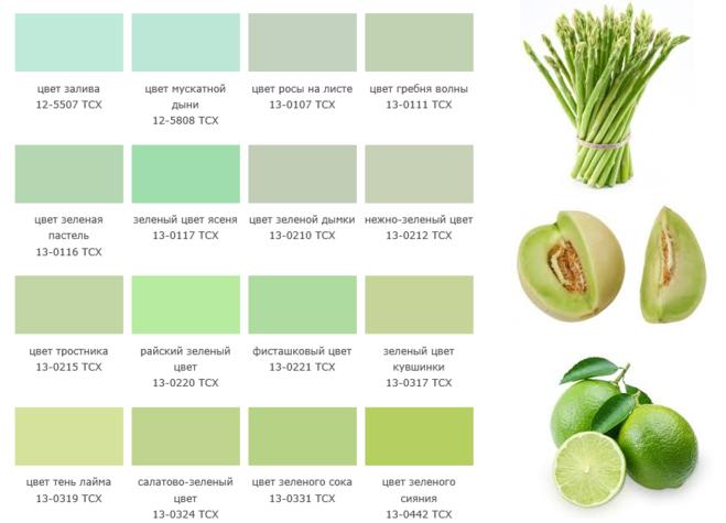 Бледно зеленый