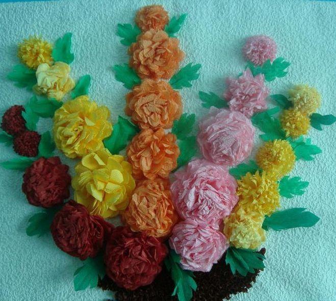 Поделки своими руками букет цветов из салфеток