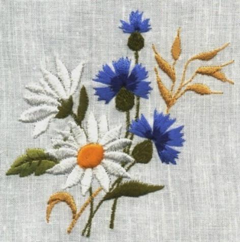 Вышивка лентами подушки схемы цветы