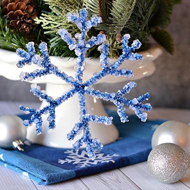 снежинка из синельной проволоки своими руками