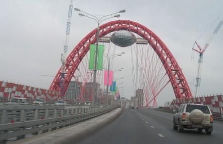 Вантовый мост в Москве