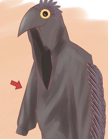 Как сделать костюм вороны крылья