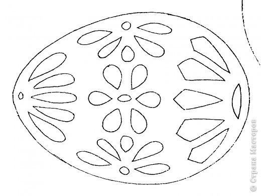 Вытынанка схема пасха