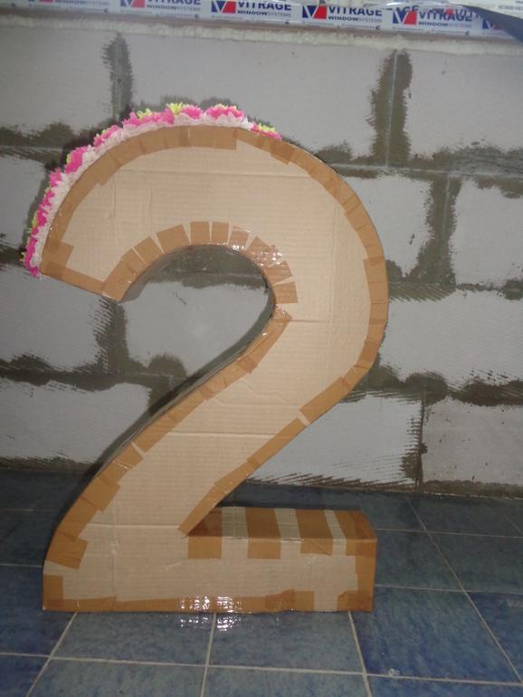 Цифра 2 из картона своими руками размеры 11