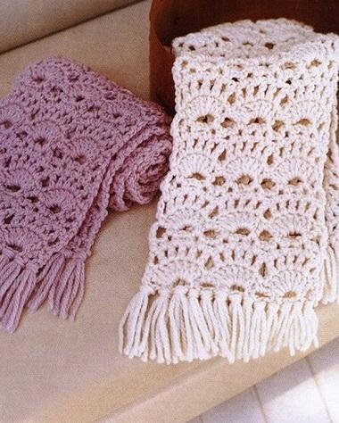 Как вязать шарф крючком для начинающих пошагово