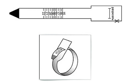 Размер кольца распечатать