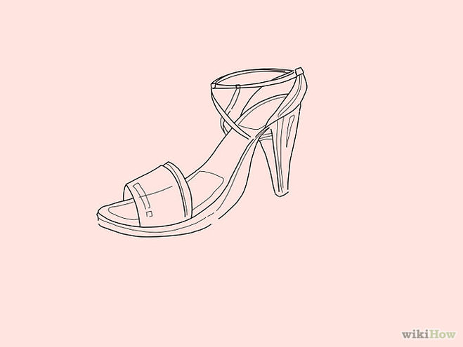 нарисовать туфли 6