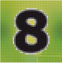 """ручная вышивка цифра """"8"""" схема"""