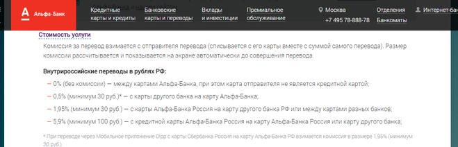 альфа банк комиссия за валютный перевод