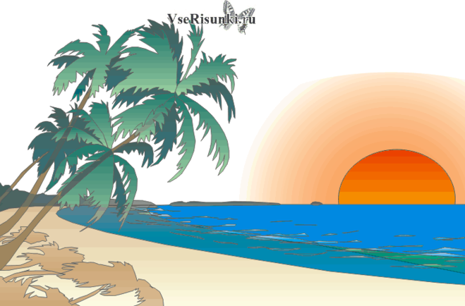 Рисунок берегов чёрного моря