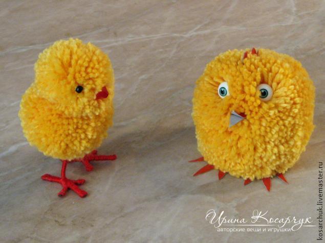 Цыплята своими руками из ниток