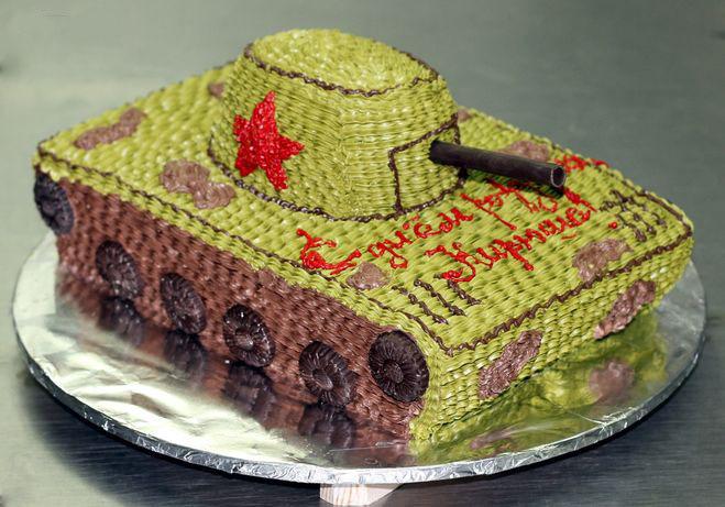 Как сделать торт в виде танка