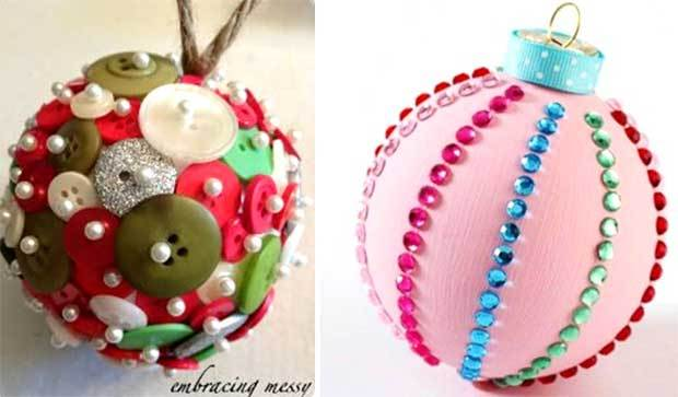 Елочный шар своими руками из лент фото 152