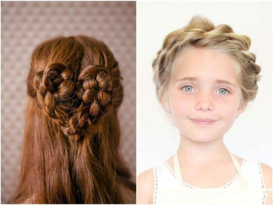 Причёски для средних волос на новый год фото детские