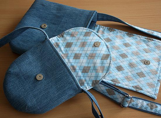 Как сшить маленькую сумку из старых джинсов