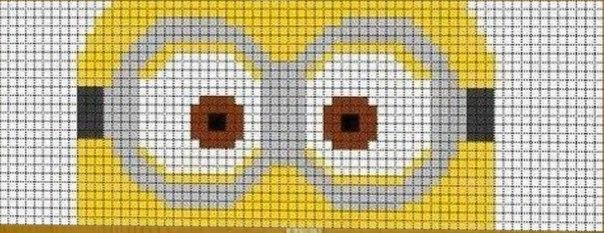 Миньоны схема плетения