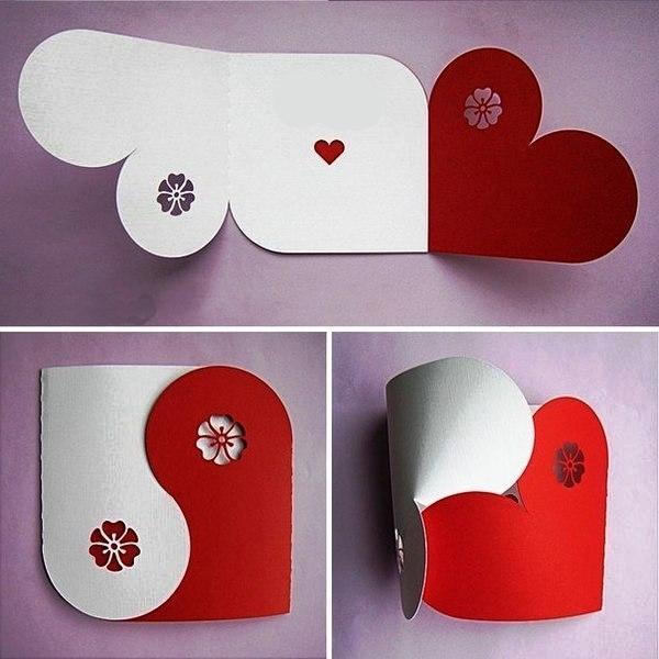 Валентинки своими из бумаги руками мастер класс