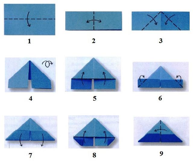 Поделки из бумаги из треугольных модулей