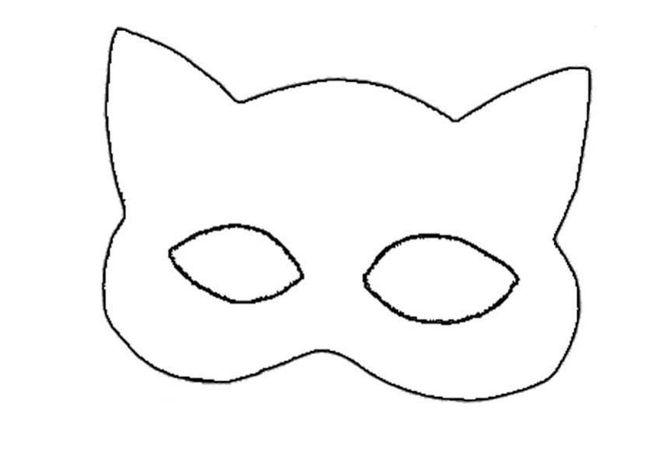 Как сделать маску из картона своими руками кошки