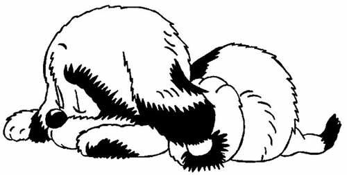 собака-вытынанка на Новый год 2018