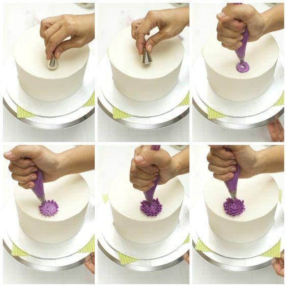 Как сделать с крема розочку двух цветов