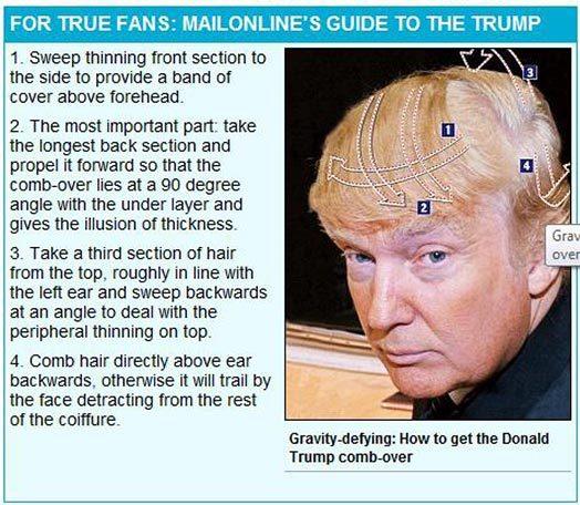 как сделать прическу Дональда Трампа