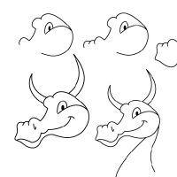 рисунок голова дракона поэтапно