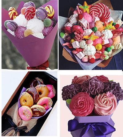 съедобный букет из сладостей своими руками на 8 марта