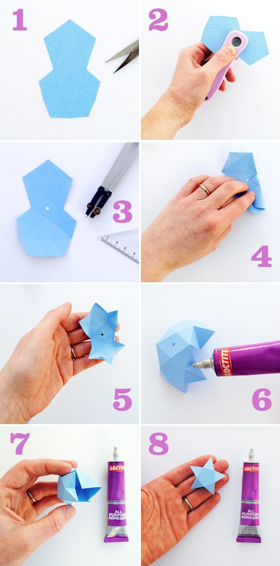 Поделка из бумаги звёздочки - Объемные сердечки из бумаги