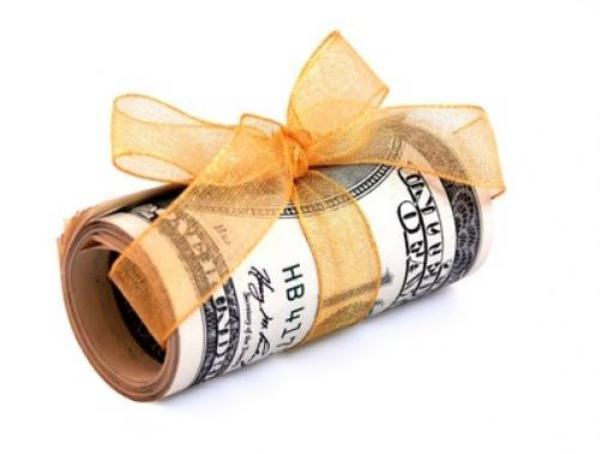 Деньги в подарок оформление