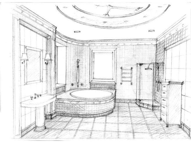 Come disegnare un bagno