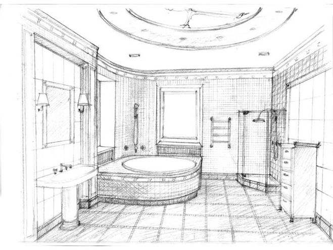 Проект ванной комнаты рисунок ванная комната фараон