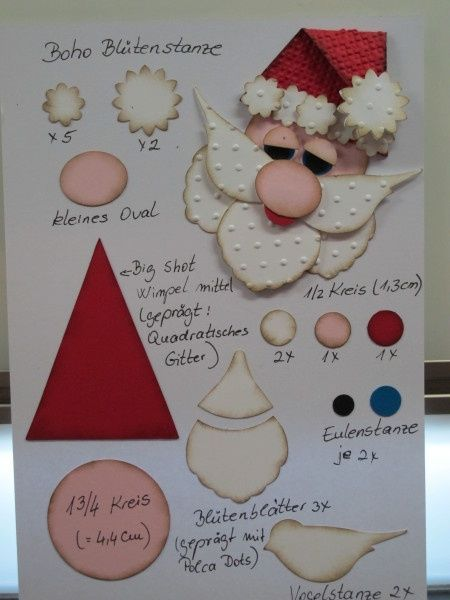 поделки с Дедом Морозом из бумаги своими руками