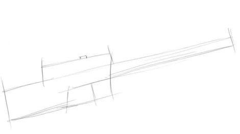 Автомат Калашникова рисунок поэтапно