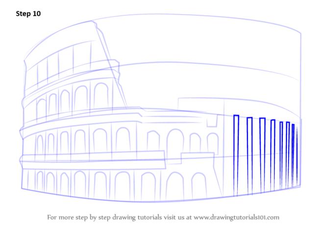как нарисовать колизей9