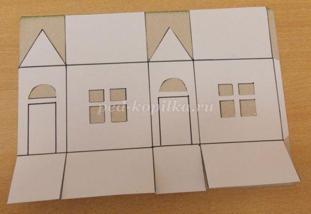 Схема домика из картона своими руками