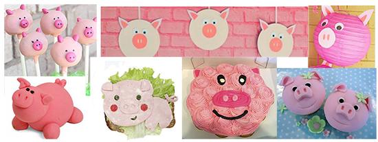 Детский стол на Новый год 2019 Свиньи