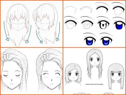 Как нарисовать лицо девочки аниме
