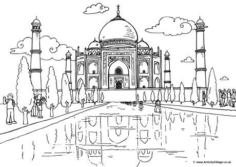 Pakistan Places Monuments Buildings Cities Coloring Pages