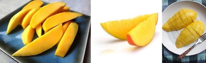 Нарезка манго дольками