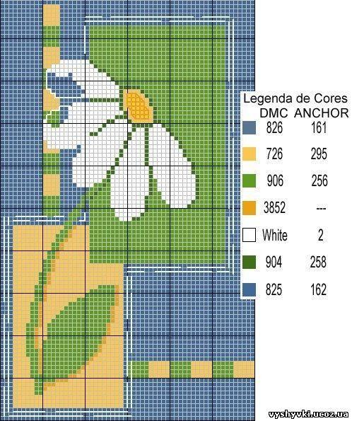 Схема вышивки крестиком ромашки ромашек