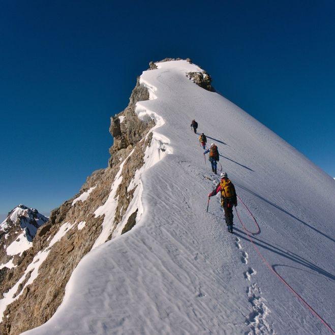 На вершине горы