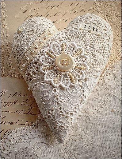 кружевное сердце