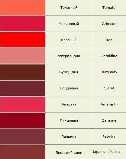 цвет пунцовый фото