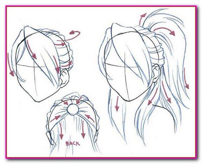 Как нарисовать аниме причёски поэтапно