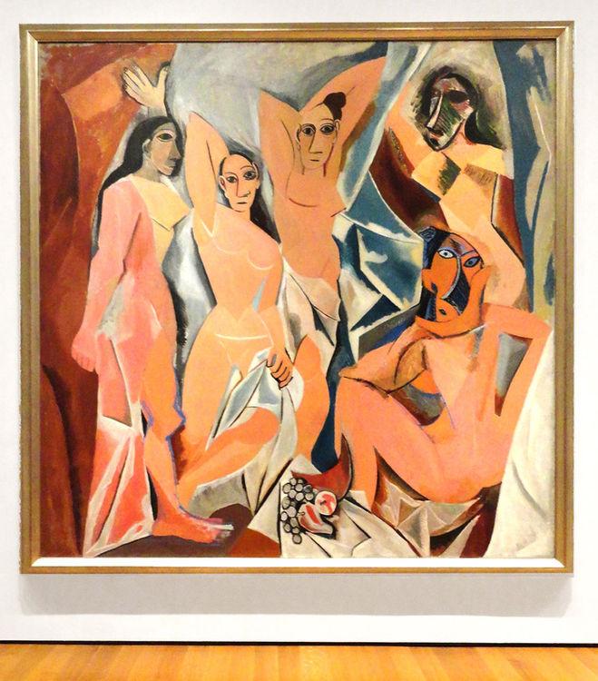 текст при наведении - Pablo Picasso - Desmoiselles d'Avignon